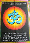 Hindu Sacred Om Mantra Printed Cotton Tapestry Wall Hanging