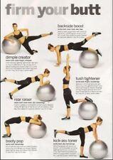 Exercise Ball 65cm for Fitness Stability Balance Yoga Workout Anti Burst Pilates