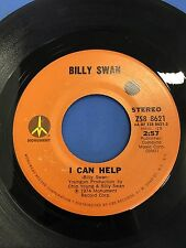 BILLY SWAN WAYS OF A WOMAN IN LOVE & I CAN HELP VINTAGE 45 RPM RECORD ZS8 8621