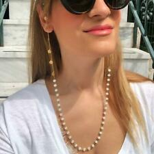 73cm Hanging Neck Glasses Chain Shell Pearl Sunglasses Cord Necklace Holder Lady