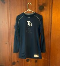 Kevin Kiermaier Tampa Bay Rays Autographed Game USED Undershirt Nike jersey