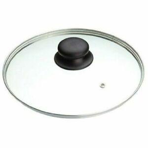 Glass Lids Saucepan  Wok Frying Milk Pan Lid Stainless Steel Rim 12CM -  32CM