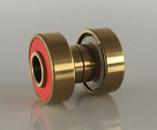 Skateboard Bearings Gold Titanium build in Ceramic Abec 9 evolve boosted exway