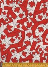 Fat Quarter Flag of Canada Canadian Flag Cotton Quilting Fabric 50 X 55cm