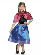 NEW Girl's Disney Princess Frozen Anna Deluxe Halloween Costume Sz M 7 8