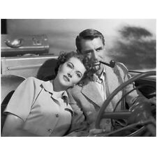 Cary Grant Driving in Car and Smoking a Pipe 8 x 10 Inch Photo