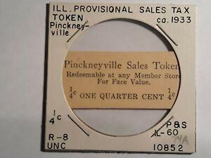 Pinckneyville, Illinois local emergency sales tax token  R-9