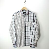 Love Moschino Men's Shirt Multicolor Size M Long Sleeves Checkered Shirt CD2788