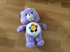 "Harmony Care Bear 13"" Plush TCFC Purple Flower Stuffed Animal 2003 Talks"