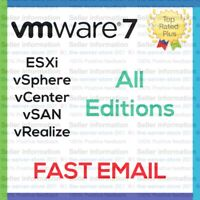 VMware Seven 7 ESXi License Key vSphere vCenter vSAN Enterprise. Plus EMAILED ⚡️