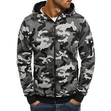 Fashion Men's Winter Camo Hoodie Hooded Sweatshirt Coat Jacket Outwear Tops Coat