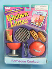 BARBIE KITCHEN LITTLES BARBEQUE COOKOUT GRILL SET *NEW*