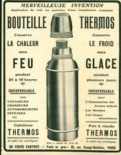 Publicité ancienne bouteille Thermos 1909 issue de magazine