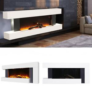 Electric LED Fireplace Insert/Wall Mounted Wall Inset Fire Surround Set Fireplac