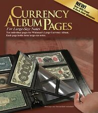Currency Album Pages For Large Banknote Notes 3 Pockets 10 REFILL Harris US Free