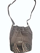 "Fine Authentic Leather Shoulder Bag - 12"" x 10"" Adjustable Strap"