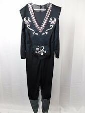 Black Scorpion Ninja Boy's Halloween Costume Jumpsuit Child 12-14 Large #R40