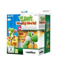 Yoshi's Woolly World figura amiibo Yoshi lana verde Nintendo WiiU