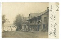 RPPC Exchange Hotel VALOIS NY Schuyler County New York Real Photo Postcard
