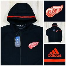 $120 New Adidas Detroit Red Wings Woven Full Zip Team Squad Jacket Men's 2Xl