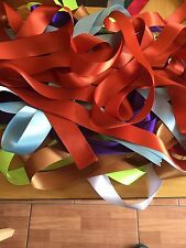 8 x 1 Metre Lengths of  Assorted Colours WIDE SATIN RIBBON 25MM OFF CUTS BUNDLE