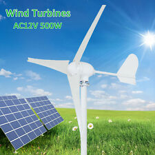 500 Watt 3 Blades Wind Turbine Charger Controller Home Power Electromagnetic 12V