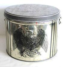Vintage Sewing Basket Tin handle 1960-70s TRI-CHEM LIQUID Embroid CADDY FREE SH