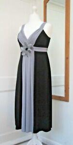 JOANNA HOPE BLACK GREY EVENING CRUISE DRESS SIZE 16 BRAND NEW