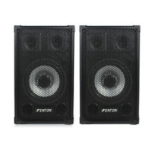 Pair of Speakers 8 Inch Woofer Mobile DJ Disco Karaoke House Party PA 800 Watts