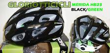 CASCO BICI MERIDA 230 g NERO/VERDE HB23 TG. M(56-58)
