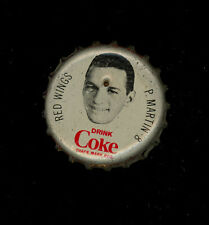 1964 65 COCA-COLA COKE BOTTLE CAP CORK PIT MARTIN DETROIT RED WINGS BLACK HAWKS