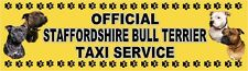 STAFFORDSHIRE BULL TERRIER OFFICIAL TAXI SERVICE Dog Car Sticker  By Starprint