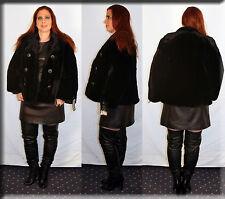 Black Sheared Beaver Fur Jacket Size Medium 6 8 M Efurs4less