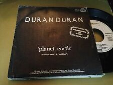 "DURAN DURAN  SPANISH 7"" SINGLE SPAIN WHITE LABEL PLANET EARTH UNION OF THE SNAKE"