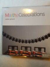 Martha Stewart Celebrations 12' Spider Halloween Garland New Black