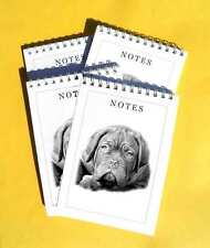 Dogue de Bordeaux Dog Pack of 4, A6 Dog Notepads Gift Set