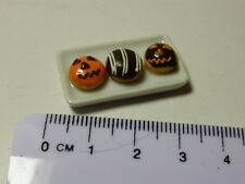 1:12 Scale 3 Donuts  on Plate Dolls House Miniature Accessories