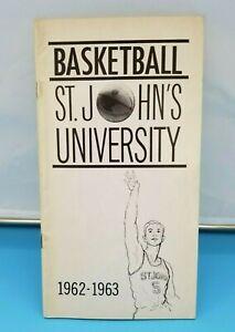 ST. JOHN'S REDMEN RED STORM - COLLEGE BASKETBALL MEDIA GUIDE - 1962 1963