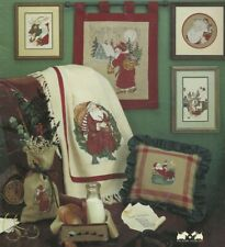 HERE COMES SANTA CLAUS--Christmas--9 Designs--Counted Cross Stitch Pattern