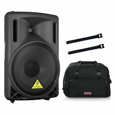 Behringer EUROLIVE B212D Active Speaker w/ Rolling Speaker Bag & Cable Ties