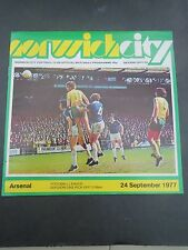 Norwich   V Arsenal   1977/8
