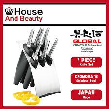 NEW Global Millenium 7pc Knife Block Set, Lifetime Warranty (RRP $859)