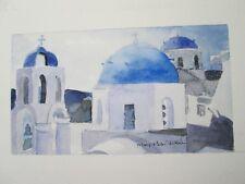 "GREECE / ORIGINAL WATERCOLOR / 9 1/4""X 12 1/4""/ MARY HELEN DAVIS, ARTIST"