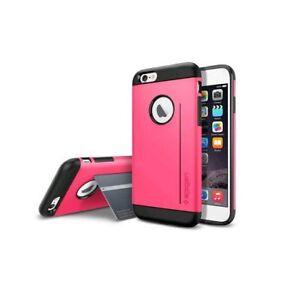 Spigen Slim Armor S Azalea Pink Case+Random Order Tempered Glass For iPhone 6/6s
