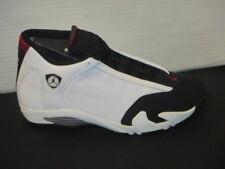 reputable site d530c c536f Nike Air Jordan 14 Retro Black Toe 2014- White Black Varsity Red Metallic  Silver
