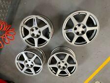 Mitsibushi evo enkei 6 spoke wheels