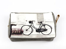 Clutch Bag Vintage Retro Bicycle Bike Black White Brown Dark Grey 22x15cm