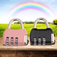 3/4 Dial Digit Combination Door Luggage Suitcase Code Password Padlock Lock
