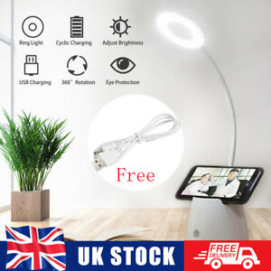 Dimmable LED Reading Night Light Touch Control USB Rechargeable Table Desk Lamp