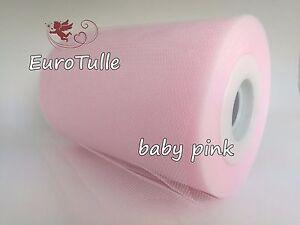 "Plain Tulle Roll TUTU Spool 6"" x 100 Y Soft Netting Wedding Bridal Bows"